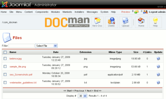 Manage Documents And Downloads In Joomla